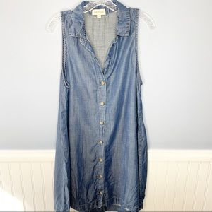 Cloth & Stone Sleeveless Denim Chambray Dress